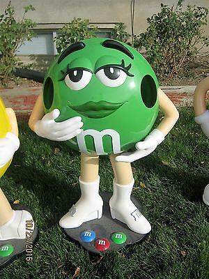 Collectible Rare-Green M&M CANDY Character Store Display with Wheels  3FT Tall
