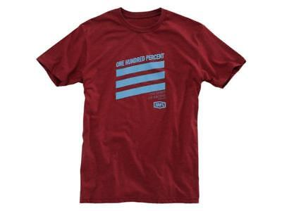 100% T-Shirt Percuss Heather Red Motocross Enduro Freizeit 2017 NEU