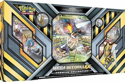 Mega Beedrill Ex Premium Collection Box Pokemon Tcg Booster Packs And Pin Coin