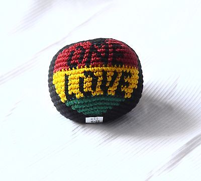 Hacky Sack_Foot Ball_Kick Ball_1 Stück_ONE LOVE_Rasta_Fesvival, Jonglieren