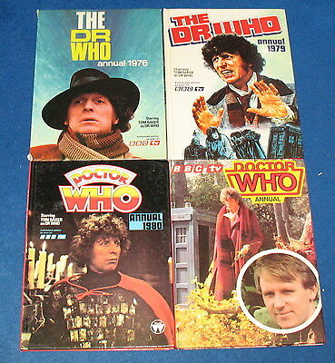BARGAIN! £14.50 for 4 Doctor Who Annuals: 1976, 79, 80, 81. Bundle / lot.