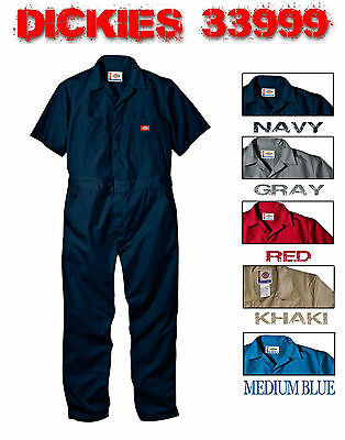 New Dickies 33999Bk S/s Tall Coveralls Short Sleeve Mens