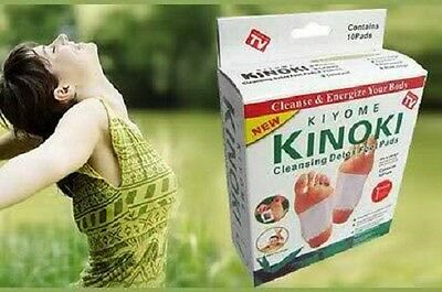 Kinoki Herbal Detox Foot Pads Detoxification Cleansing Patches 10 pads