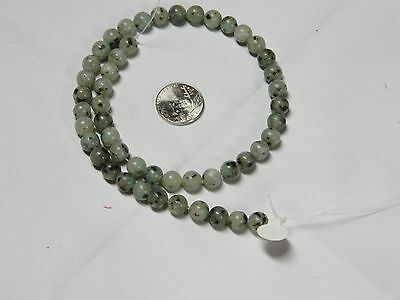 Prehnite 8mm Round Beads 15.5 inch Long Strand