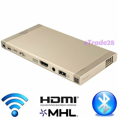 Sony MP-CL1A HD Mobile Projector Portable Home Cinema HDMI WiFi Bluetooth Gold