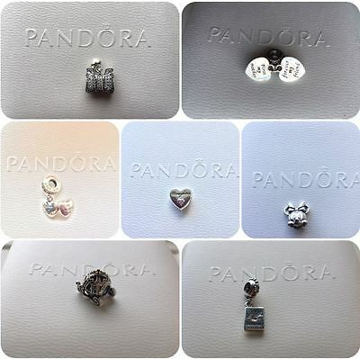 Authentic Genuine Pandora Silver Charm Bead S925 925 Disney Wife Mother Friend