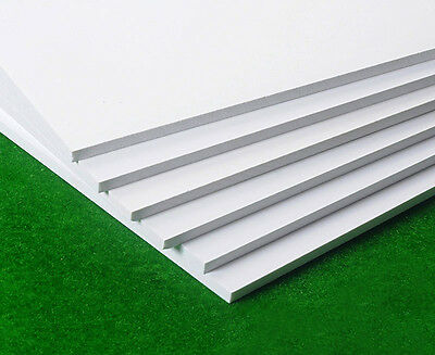 1 Pcs White PVC Foam Board Plastic Sheets Sign Board Display DIY 2/3/5/8mm Thick