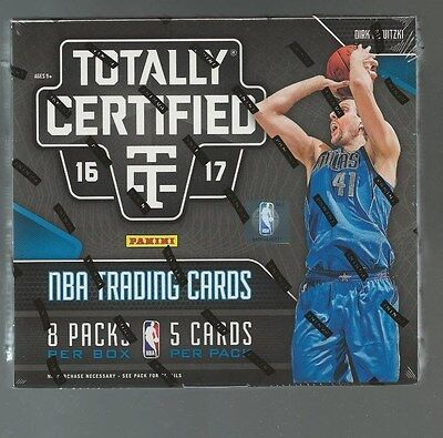 2016/17 Panini Totally Certified Basketball Factory Sealed Hobby Box