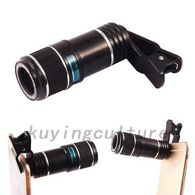 HOT Universal 12X Zoom Mobile Phone Clip-on Telephoto Camera Lens for iPhone