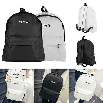 Korean Style Embroidery Letter Canvas Classical Backpack For Man And Woman I5&