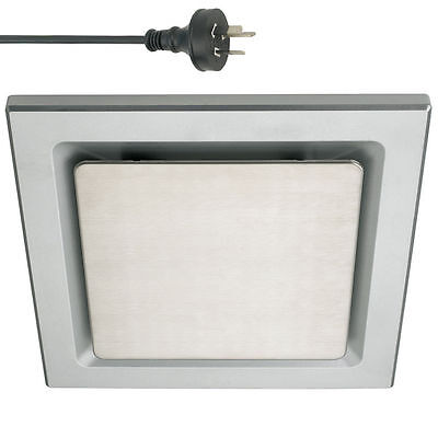 Silver Ducted Exhaust Fan Air Flow Square Ceiling 25cm