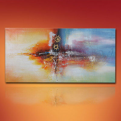 Large Modern Oil Painting Abstract Canvas Wall Art On Decor Handpainted Framed