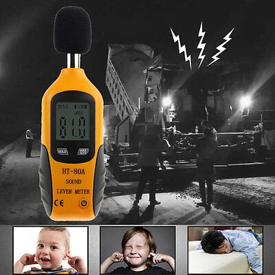 HT-80A Sound Level Meter LCD Digital Screen Display Noise Pressure Tester P5