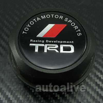TRD Engine Oil Filler Cap Fuel Intake Cover Tank for Toyota Lexus Scion Black