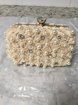 $52 New! Lulu Townsend Embellished Flower Minaudiere Clutch- Free Shipping!