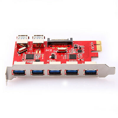 PCI-E PCI USB3.0 Port Durable Express Expansion Card Adapter for XP Win7 Vista 7