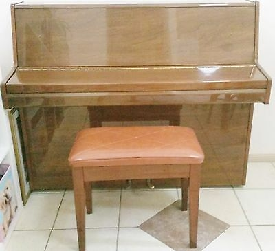 Alex Steinbach Upright Piano with Matching Stool