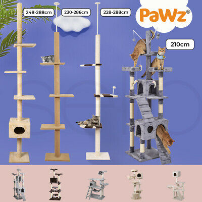 0.8M-2M Cat Scratching Perch Post Tree Gym House Condo Furniture Scratcher