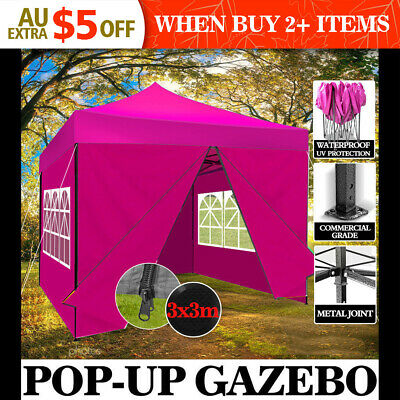 3X3M Outdoor Gazebo Folding Marquee Tent Shade Canopy Pop Up Party