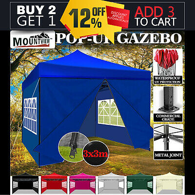 NEW 3x3 POP UP OUTDOOR GAZEBO FOLDING TENT PARTY MARQUEE SHADE CANOPY