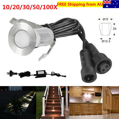 Warm White 18mm Low Voltage Outdoor Yard Patio Landscape LED Deck Stair Lights