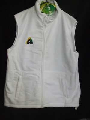 Lawn Bowls Polar Fleece Fleecy Vest , White, Size- X LARGE