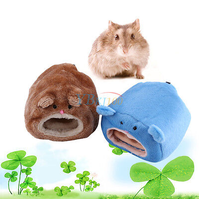 Cute Cartoon Pet Hamster House Bed Warm Squirrel Chinchilla Cage Nest Accessory