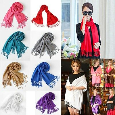 Womens Lady Long Soft Cotton Scarf Cashmere Wrap Shawl Pashmina Scarves Fast US
