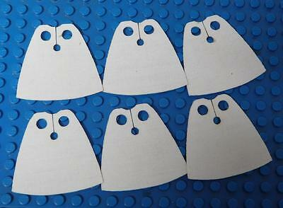 6x CUSTOM Capes For LEGO Minifig - Standard Cape BodyWear White