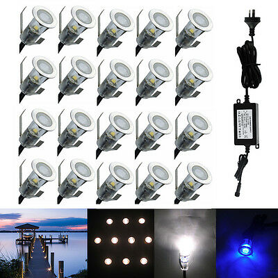20X Low Voltage 18mm Outdoor Yard Patio Landscape Lighting LED Deck Stair Lights