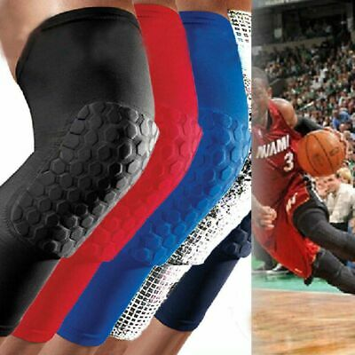 Soft Long Sleeve Basketball Gym Leg Protector Crashproof Knee Gear Honeycomb Pad