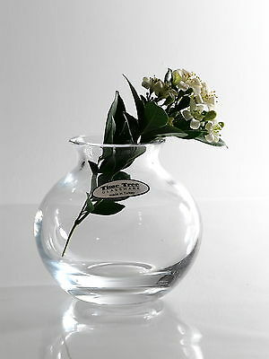 Time Tree Handmade Clear Turkish Glass Mini Globe Vase Height 10cm