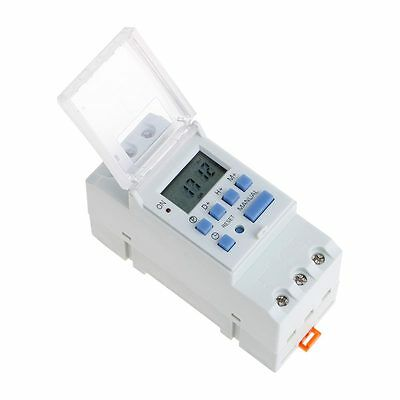 7 Day Digital LCD Electronic Programmable 12/24 Hour Timer Switch Time Relay 16A
