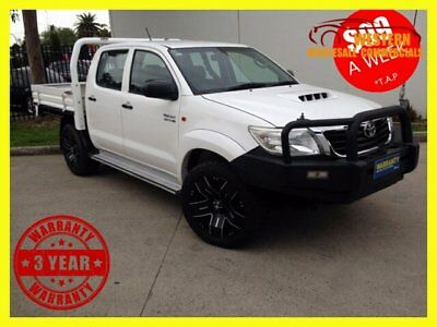2011 Toyota Hilux KUN26R MY11 Upgrade SR (4x4) White Manual 5sp M