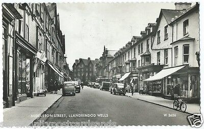 Llandrindod Wells Middleton Street Shops Cars Cycle RP Valentine's #W.3656 Used