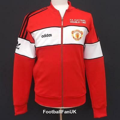 MANCHESTER UNITED Adidas Originals 1985 FA Cup Retro Top S,M Man Utd TT