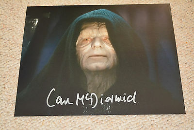 IAN MCDIARMID signed Autogramm 20x25 cm In Person  STAR WARS Imperator EMPEROR