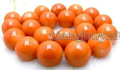 "SALE Big 18.5-20mm high quality 100% nature round Orange Coral strand 15""-los506"