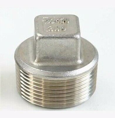 """3/4"""""""" BSP male 304 stainless steel Pipe Fitting Countersunk Plug Square Head"""