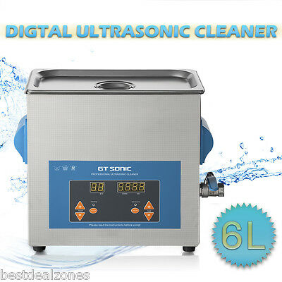 3L Ultrasonic Cleaner Stainless Steel Timer Heater Tank Basket Cleaning Machine