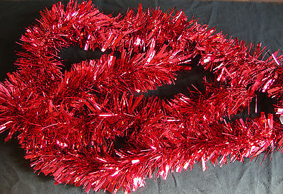 Red Christmas Tinsel 2 metre Garland Christmas Tree Decoration