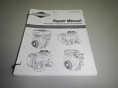 Briggs stratton l head single cylinder engine service shop briggs stratton 4 cycle v twin ohv head engine service repair manual set 1995 fandeluxe Image collections