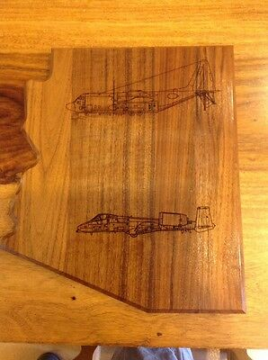 Arizona Us Air Force A10 EC130H Wood Plaque Used