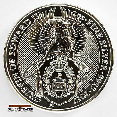 The 2017 Griffin Queens Beasts 2 ounce bullion coin