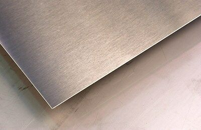 """Alloy 304, 16 GA, Brushed Stainless Steel w/ pvc - 21 1/4"""" x 25 1/4"""" (B)"""