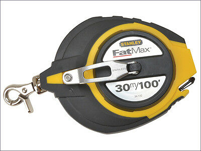 Stanley STA034132 FatMax Long Tape 30m / 100ft 0-34-132 5:1 Gear Ratio New