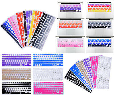 11/12/13'' Silicone Keyboard Protector Skin Cover For US Macbook Pro/Air/Retina