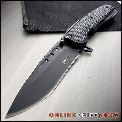 "9"" MASTER BLACK TACTICAL FOLDING SPRING ASSISTED KNIFE Blade Pocket Open Assist"