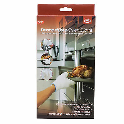 JML Incredible Oven Glove - Flame & Heat Resistant Fits Either Hand in One Size