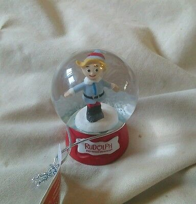 Hermey The Elf From Rudolph The Rednosed Reindeer Glitter Dome